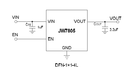 JW7805低噪声低压差电压调节器的数据手册免费下载