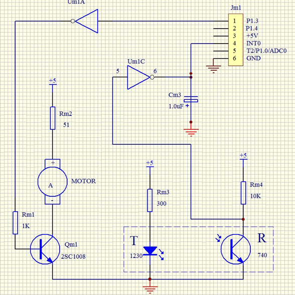 单片机与控制实验示意电路原理图设计