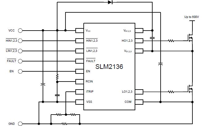 SLM2136S三相橋式驅動器的數據手冊免費下載