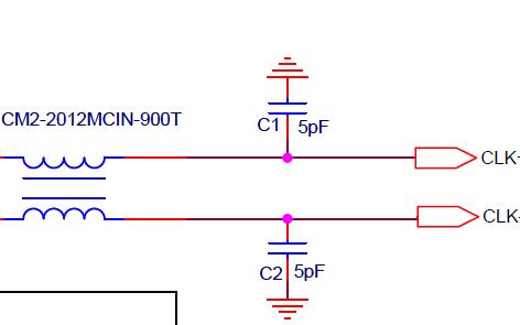 差分時鐘EMC設計標準電路原理圖免費下載