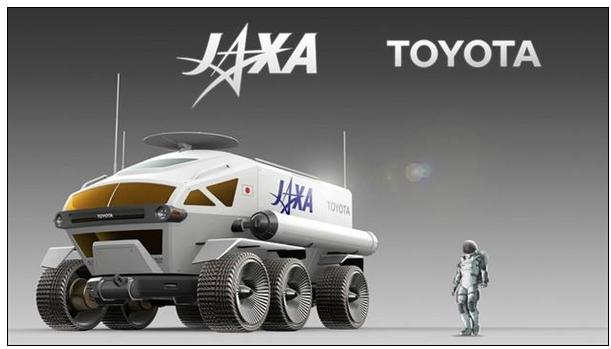 丰田和JAXA联手开发能够在月球上运动的燃料电池六轮月球车