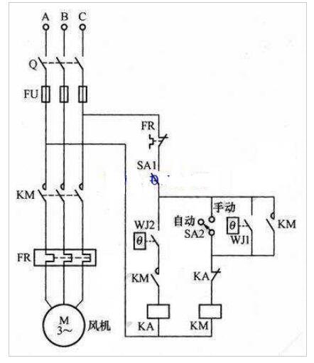 变压器的主动风冷操控电路