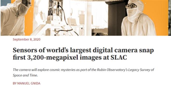 研究人员用全球最大的数码相机拍摄历史上分辨率最高的照片