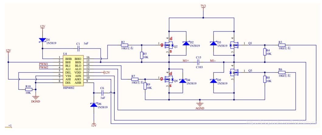 HIP4082電機驅動電路設計分析