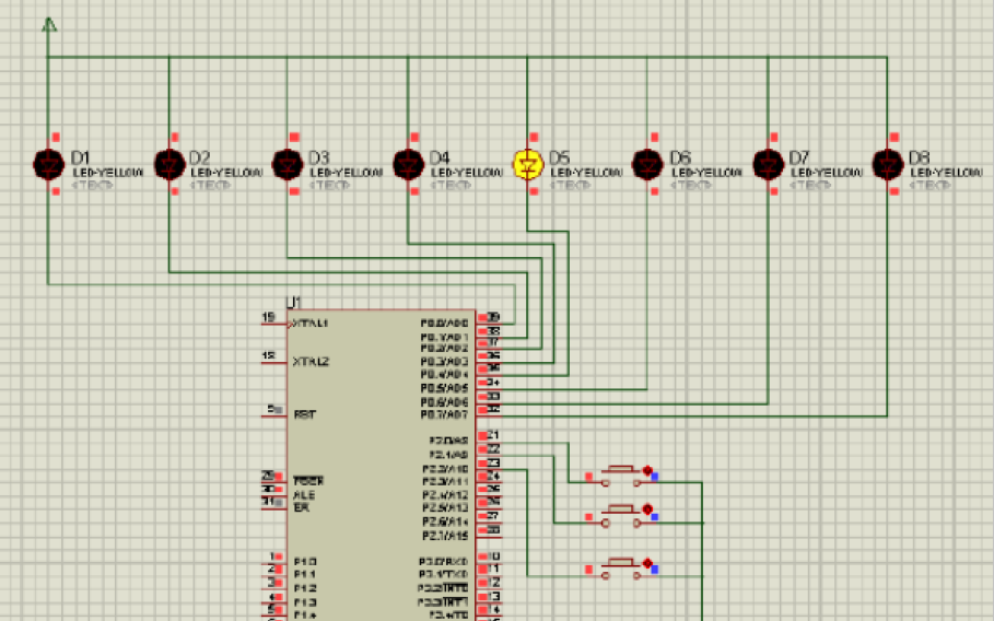 使用單片機實現跑馬燈實驗的資料和電路圖與源代碼免費下載