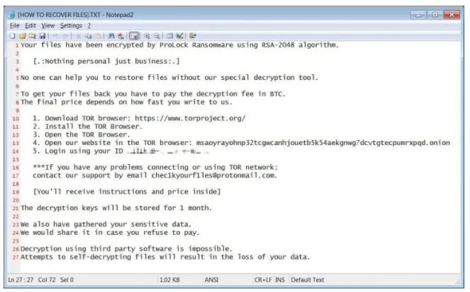 FBI第二次警告:ProLock勒索软件再度升级...