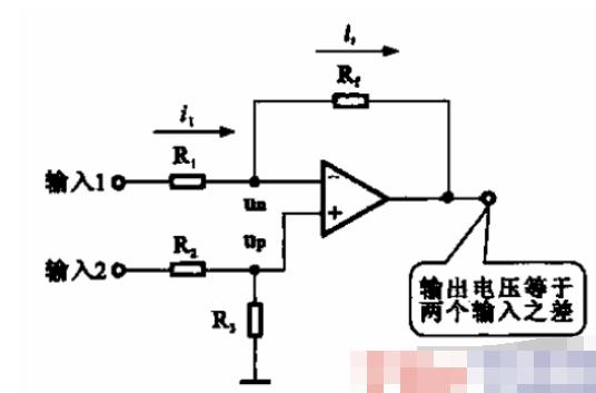 简单的减法运算电路解析