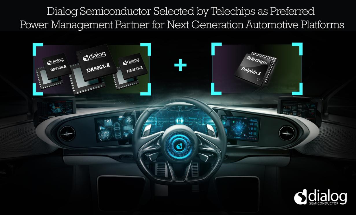 Dialog成为Telechips优选电源管理合作伙伴,助力下一代汽车平台