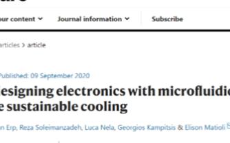 单片集成的歧管微通道冷却结构高效改善芯片的散热性...