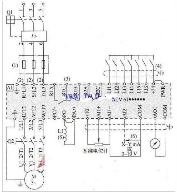 变频器的常见电气接线�图