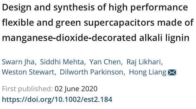 科学家研制具有出色储能潜力的植物型超级电容器