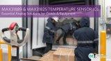 Maxim Integrated宣布推出两款业界领先的温度传感器IC
