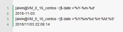 Linux操作系统的Shell命令:日期格式