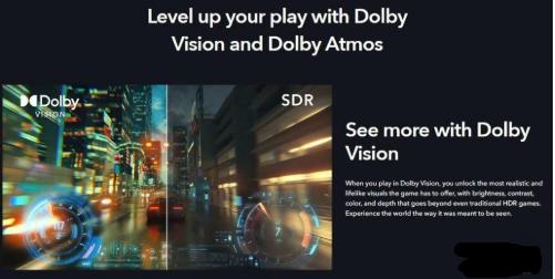 杜比宣布其杜比视界HDR技术将为游戏机的发展铺路
