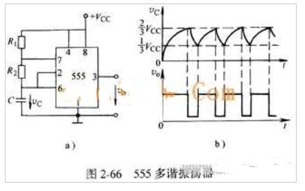 555组件构成的多谐振荡器电路