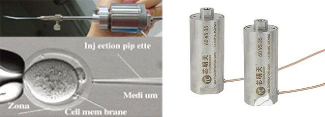 高精度封装式压电促动器在细胞穿透中的应用