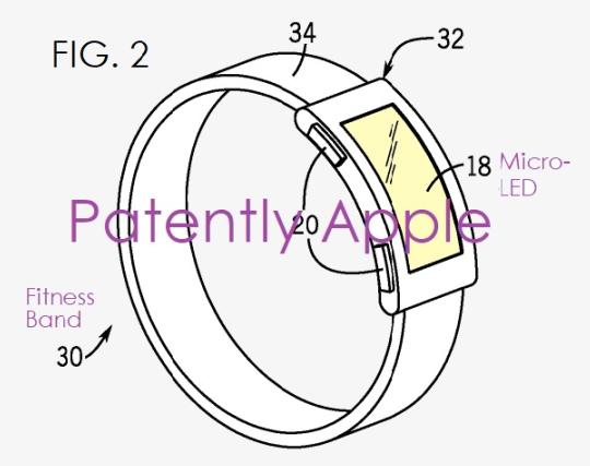 苹果新专利:搭载Micro LED屏幕的未来MacBook、iPad和健身手环