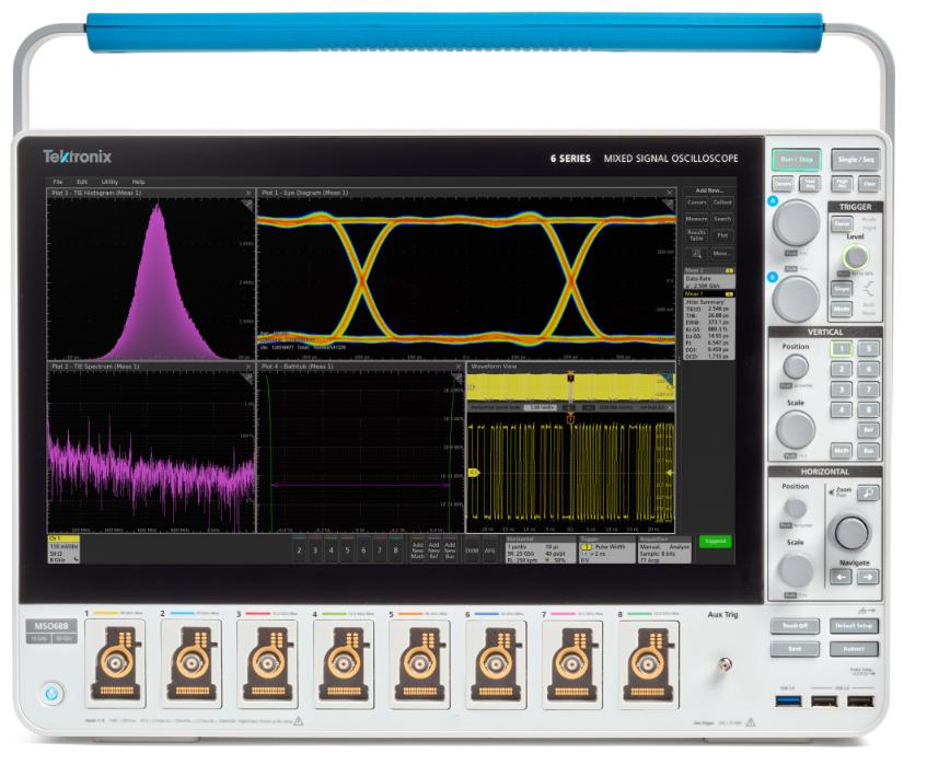 泰克最新推出增强型MSO6B,业内首款4/6/8通道10GHz示波器