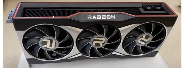 AMD RX 6900显卡实拍图:双8pin供电,可镇压375瓦