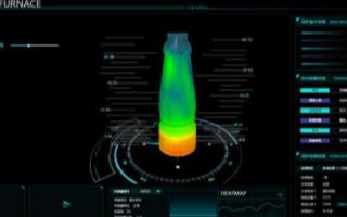 基于2D和3D可视化技术的高炉炉体三维热力图监控...