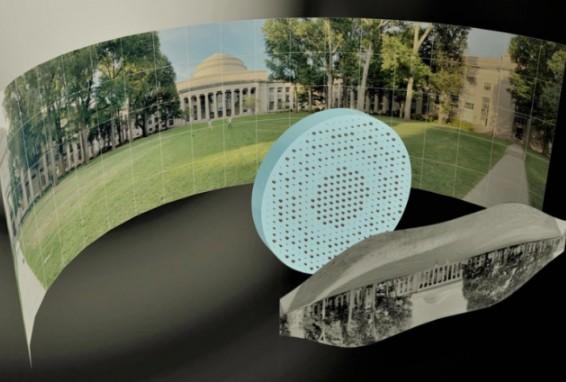 麻省理工研发的超透镜可以实现鱼眼图像,完全超出了...