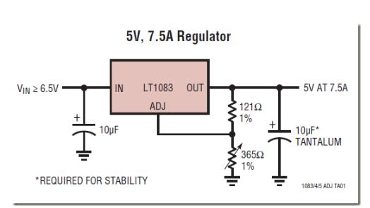 基于FPGA的低压差正压可调稳压器应用电路设计