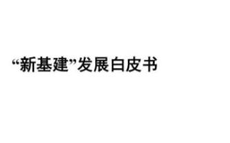 """赛迪研究院电子信息研究所发布了白皮书《""""新基建""""发展白皮书》"""