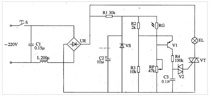 双向晶闸管的调光电路