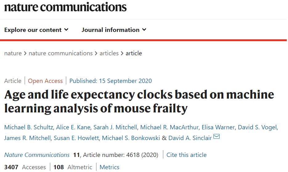 哈佛医学院通过机器学习算法开发时钟,可预测实际寿命和生理年龄