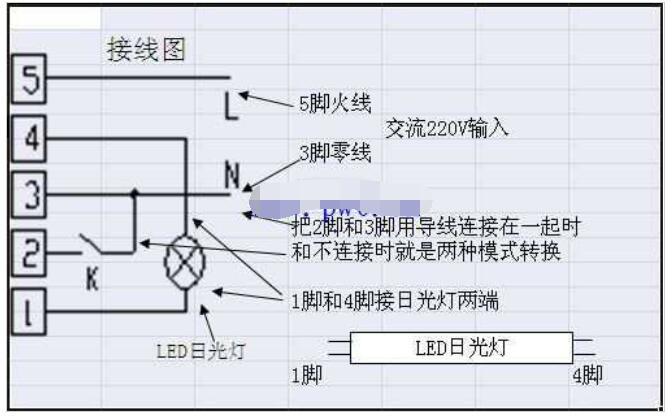应急LED筒灯的接线方法