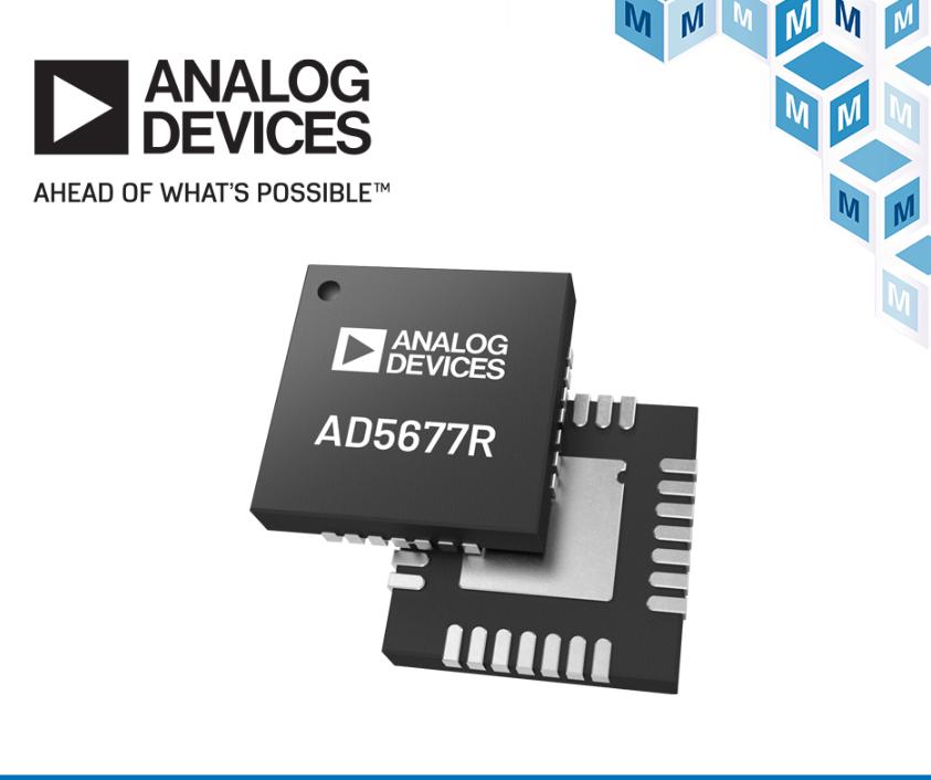 贸泽开售用于工业自动化和过程控制应用的  Analog Devices AD567xR DAC