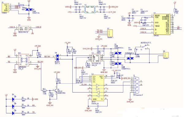 USB转485/232/TLL三类通用型转换器电...