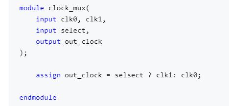 多時鐘設計中時鐘切換電路設計案例
