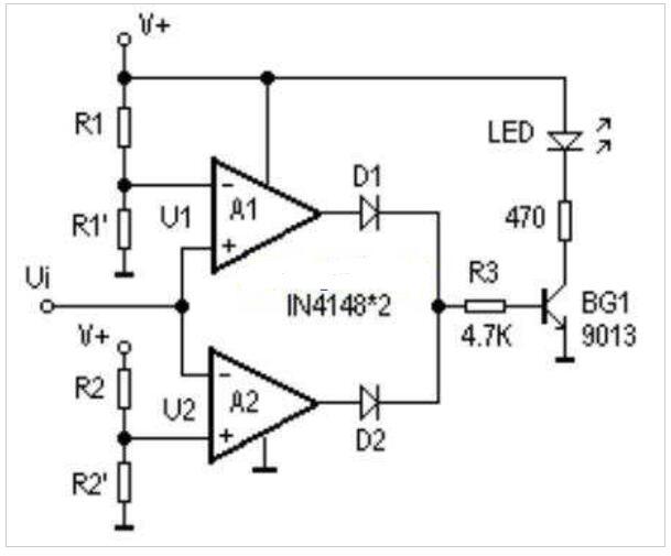 lm324比照器的应用电路