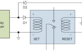 利用二極管電路實現雙線圈鎖存繼電器的測試