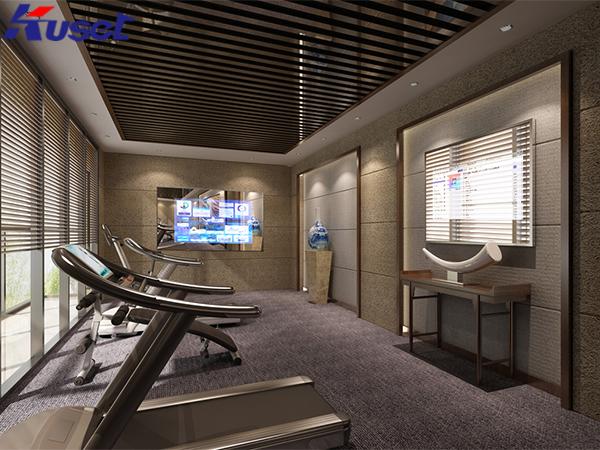 健身房中的智能魔镜显示屏可提升健身互动体验