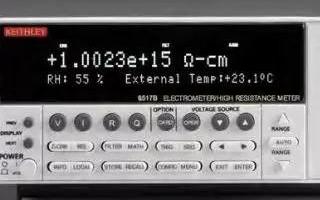 使用靜電計測量儀表實現低電平高精準的測量