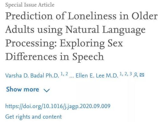 人工智能如何通过自然语言处理鉴别你的孤独感?
