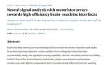 基于記憶電阻器的神經信號分析系統