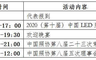 中国照明电器协会第八届五次理事会将于11月18日至19日在深圳市召开