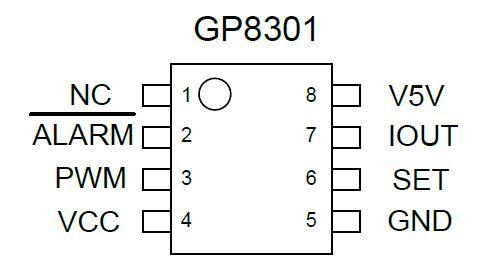PWM到模拟信号转换器,GP8301是一款高性能PAC芯片