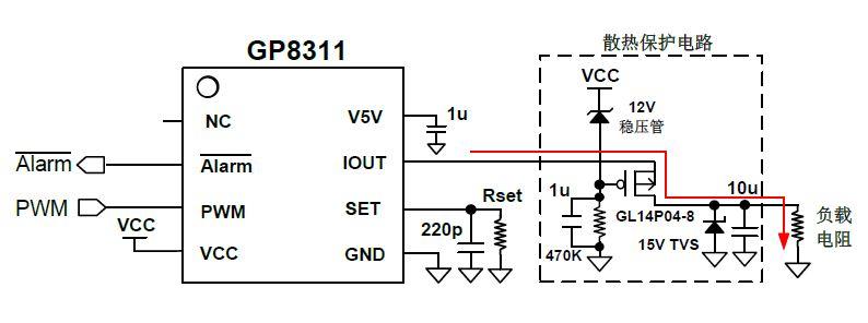 GP8311 PWM转4-20mA PAC芯片,应用及功能描述