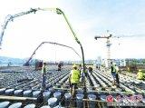 """长沙三安第三代半导体项目厂区""""心脏""""封顶"""