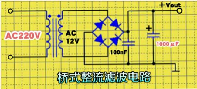单12V变压器输出±12V电压的方法