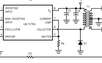 LM1578A開關穩壓器組成的RS232電源電路