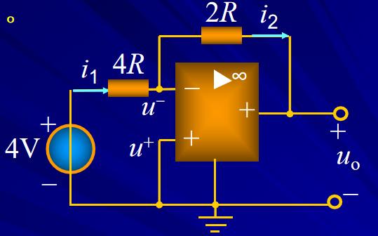 含有運算放大器的電阻電路詳細說明