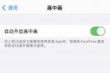 苹果iOS14带来画中画功能