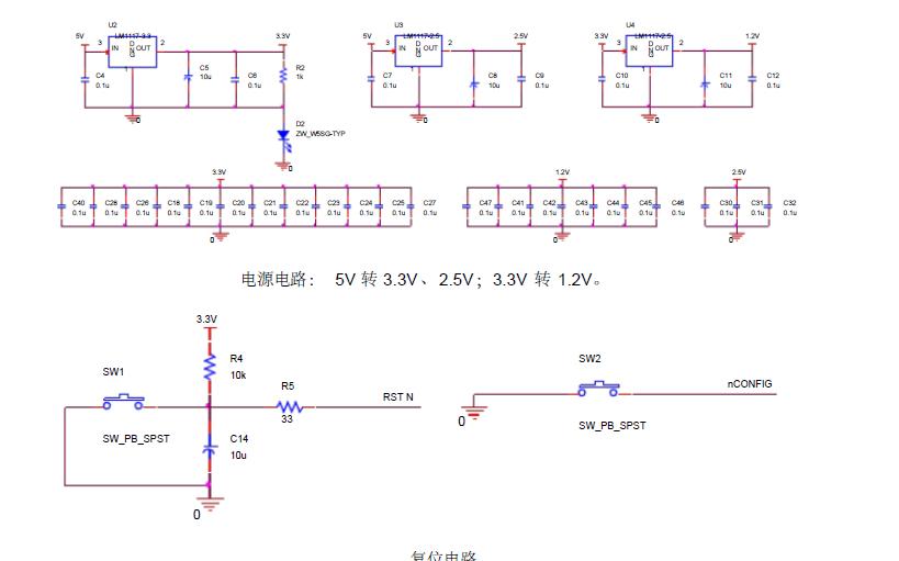 FPGA的最小系統電路原理圖免費下載