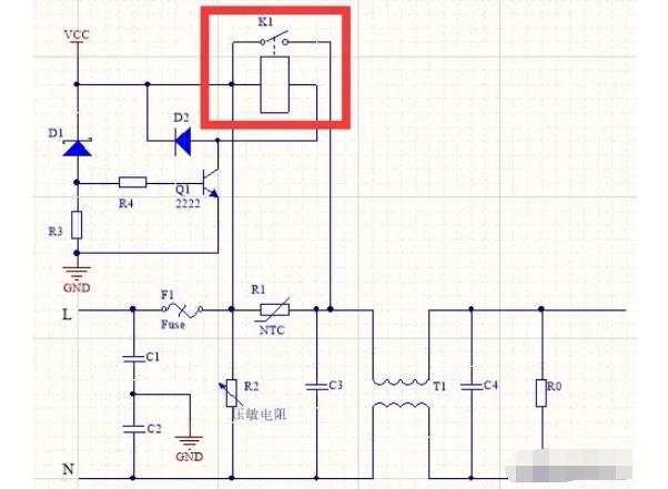 开关电源输入端继电器的作用