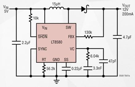 DC/DC转换器LT8580的性能特点及应用范围...